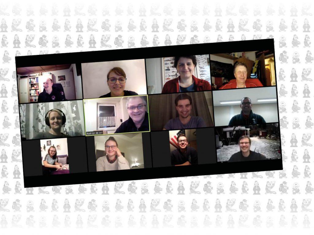 Screenshot der Teilnehmer der digitalen Klausurtagung 2021 der Landesjugendfeuerwehr Brandenburg